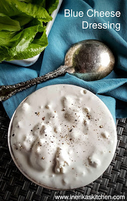 This thick, chunky homemade blue cheese dressing makes the perfect umami-rich dip for raw vegetables or salad