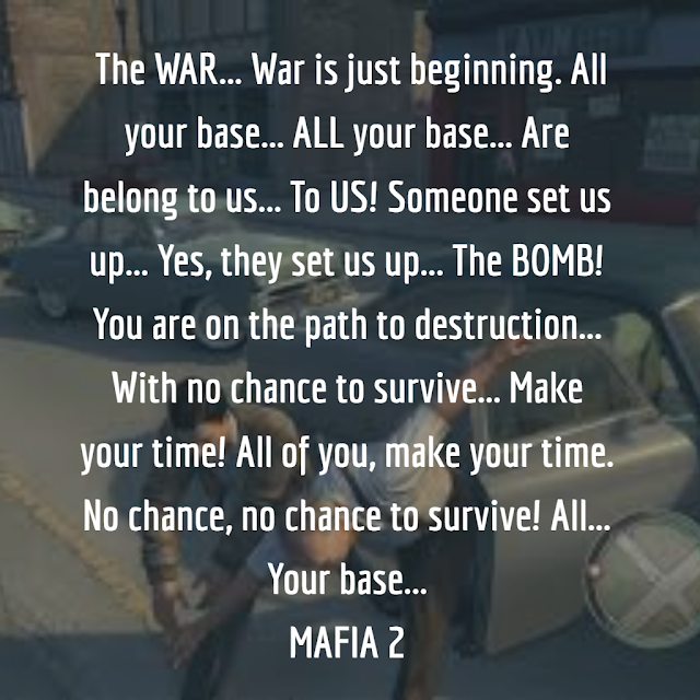 Top Quotes of Mafia 2 Game