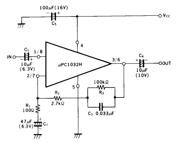 dual low noise equalizer amplifier circuit