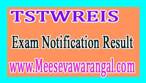TSTWREIS 6th 7th 9th Class Entrance Exam 2017 Notification Exam Date Halltickets Results