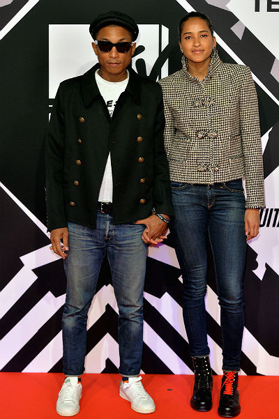 MTV Europe Music Awards-2015 Pharrell Williams with his wife