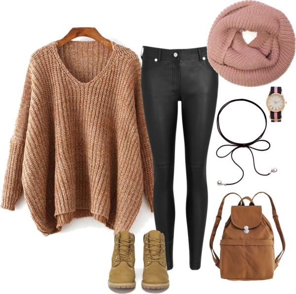 sweter, stylizacja, zestaw ubrań