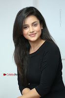 Telugu Actress Mishti Chakraborty Latest Pos in Black Top at Smile Pictures Production No 1 Movie Opening  0109.JPG