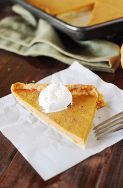 Slice of Pumpkin Slab Pie image