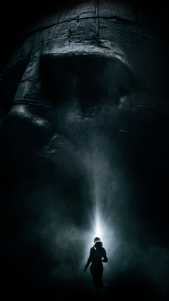 The Human Face Statue from Prometheus  Galaxy Note HD Wallpaper