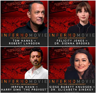 Tom Hanks, Felicity Jones, Irrfan Khan