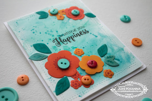 Stamped handmade cards with Watercolor background. Stamps by Paper Trey Ink and Stamplorations