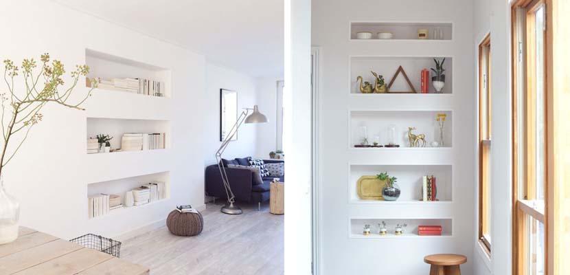 Marzua: estanterías nicho para dar un toque moderno al hogar
