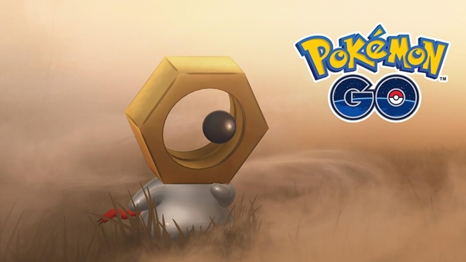 Imagem promocional do Meltan no jogo Pokémon GO