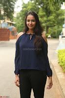 Poojita Super Cute Smile in Blue Top black Trousers at Darsakudu press meet ~ Celebrities Galleries 021.JPG