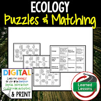 Ecology, Life Science Puzzles, Life Science Digital Puzzles, Life  Science Google Classroom, Vocabulary, Test Prep, Unit Review