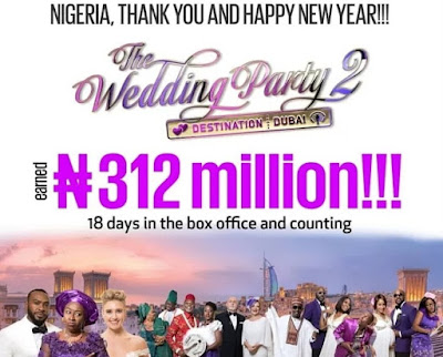 the wedding party two breaks nigerian box office record