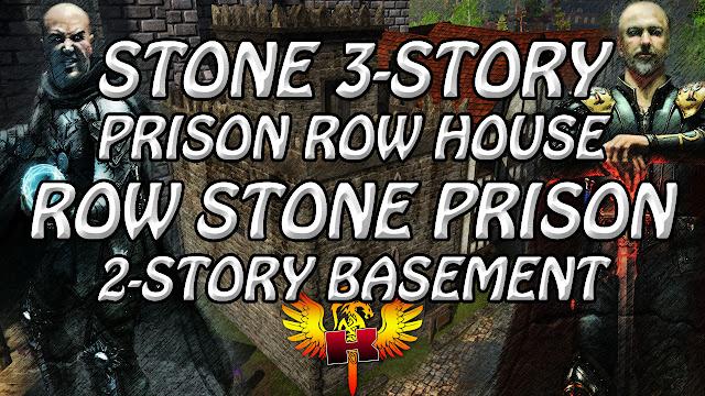 Shroud Of The Avatar • Stone 3-Story Prison Row House & Row Stone Prison 2-Story Basement
