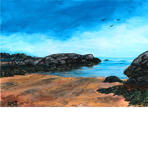 Entrance of Terence bay beach- Original painting