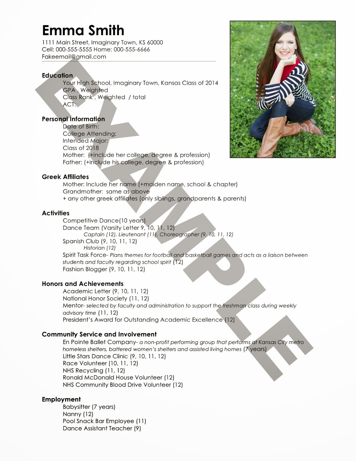 Acting Resume Samples Free Templates Resume Examples Cover Letter