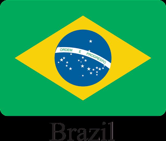 Brezilya Bayrağı Vektörel