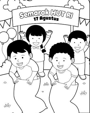 Gambar Mewarnai 17 Agustus Hari Kemerdekaan Tk Paud Sd Terbaru Gambarcoloring