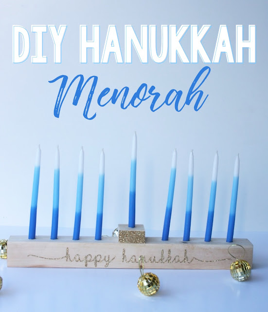 Create your own DIY Menorah!