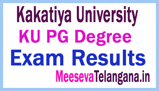 Telangana Kakatiya University KU PG Degree Results Download