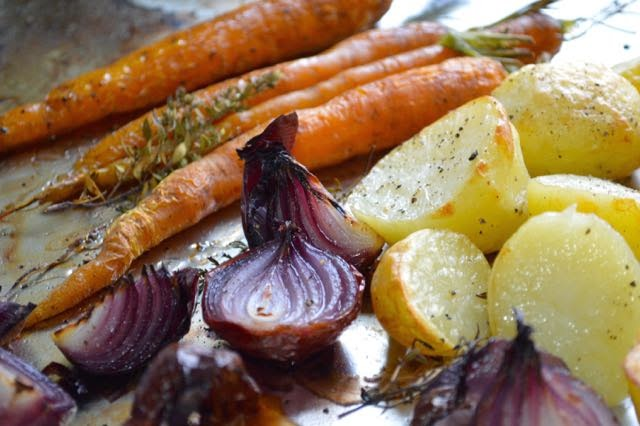 Steam Combination Oven Traybake Vegetables