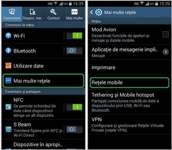 Setari android pentru conectare internet mobil Orange