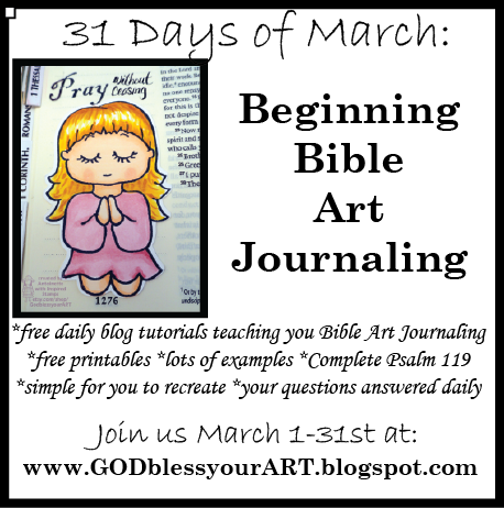 March 14 Beginning Bible Art Journaling Make Your OWN Sticker Free Printable