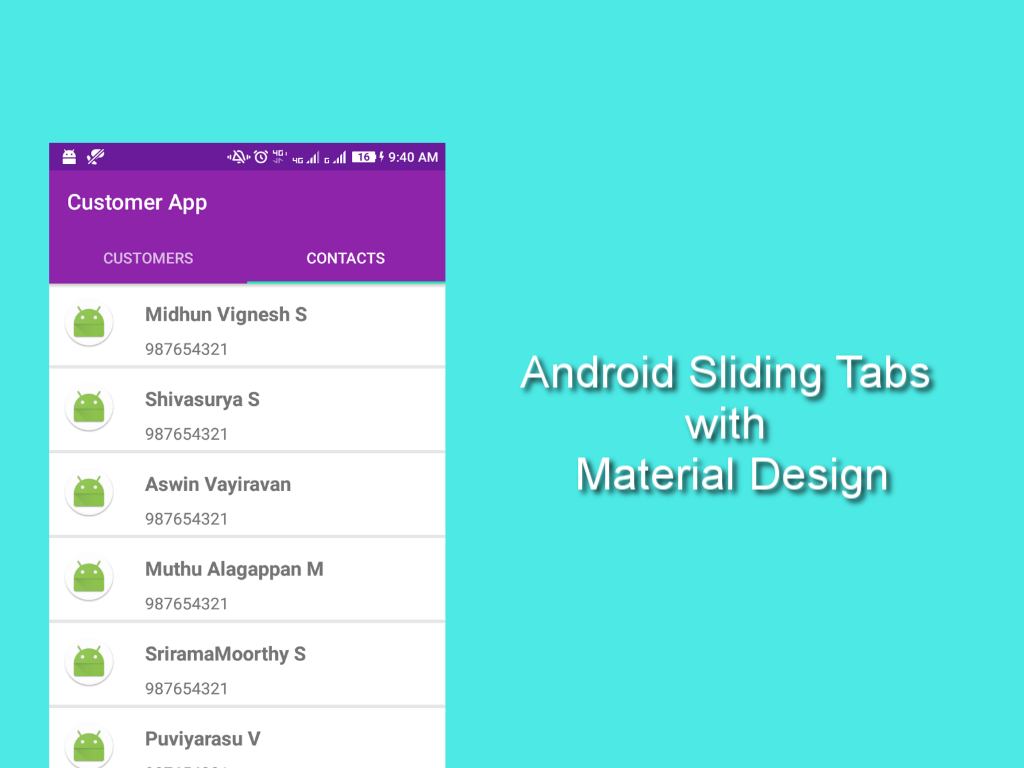 Android TabLayout Tutorial - Material Design Support Library ~ i