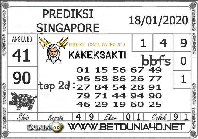 PREDIKSI TOGEL SINGAPORE DUNIA4D 18 JANUARI 2020