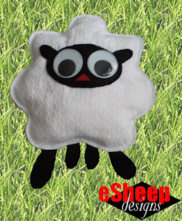 Sheep Stuffie Pillow crafted by eSheep Designs