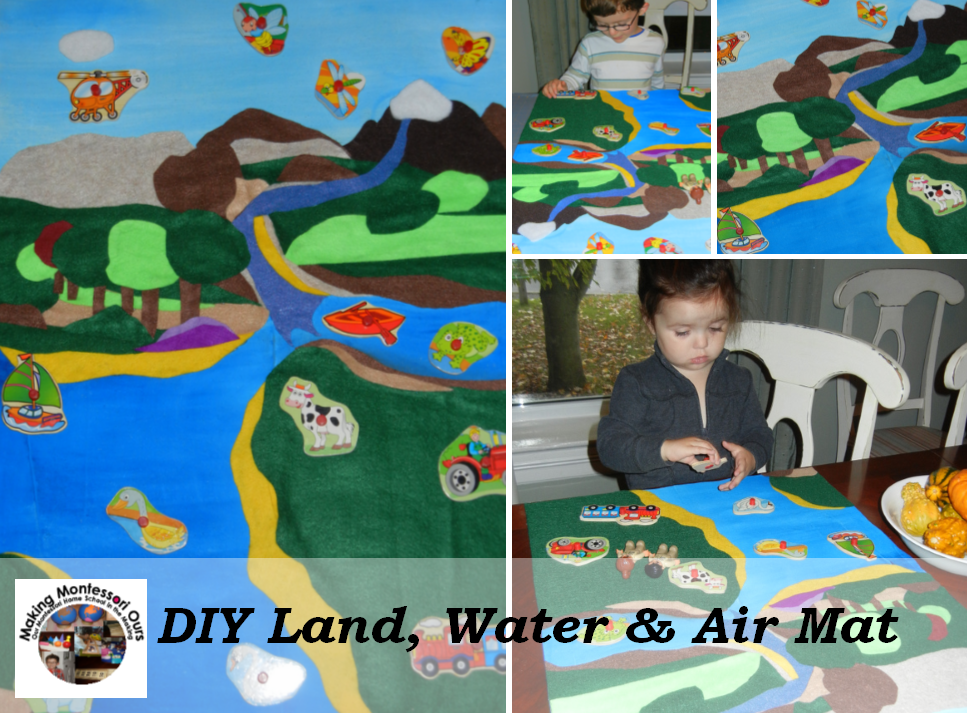 """""""Making Montessori Ours"""": Make a Land Water & Air Mat"""