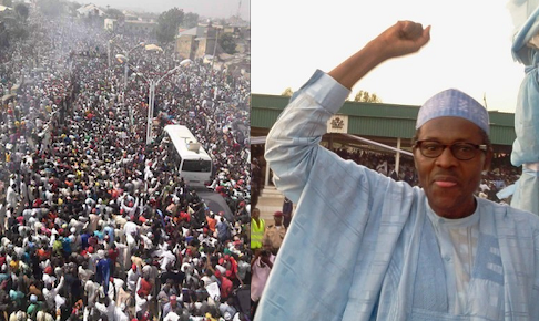 Image result for Buhari campaigning in Kano