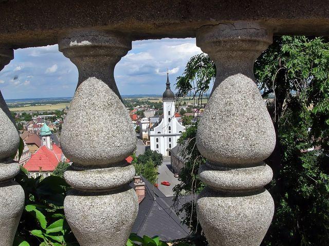 czeskie miasta, Javornik, Czechy, przy granicy