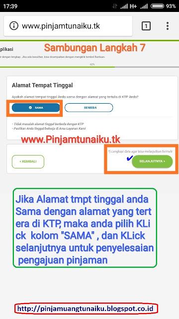 G.Gambar Sambungan langkah 7 pengajuan pinjaman uang tanpa jaminan via link web promo tunaiku www.Pinjamtunaiku.tk