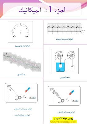 تمارين الميكانيك ثانية باك علوم فيزيائية