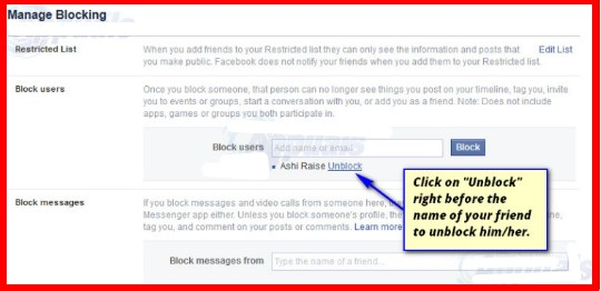how to unblock someone on facebook 2017