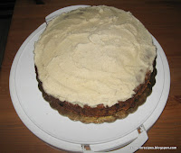 luscious carrot cake with dairy-free (cashew) topping