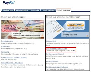 menggunakan Paypal