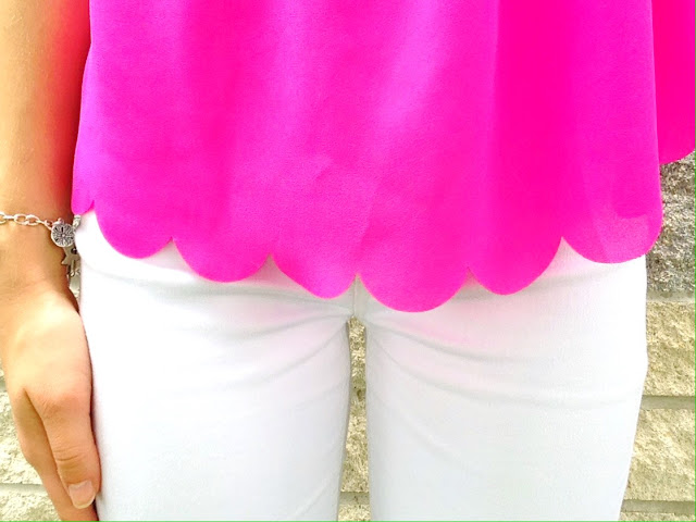 Pink Scalloped Top | Live The Prep Life