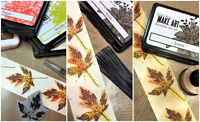 Sara Emily Barker Saturday Showcase Faux Bark and Leaf Tutorial for The Funkie Junkie Boutique #wendyvecchi #makeartblendabledyeink #timholtz #sizzixalterations #stampersanonymous 7