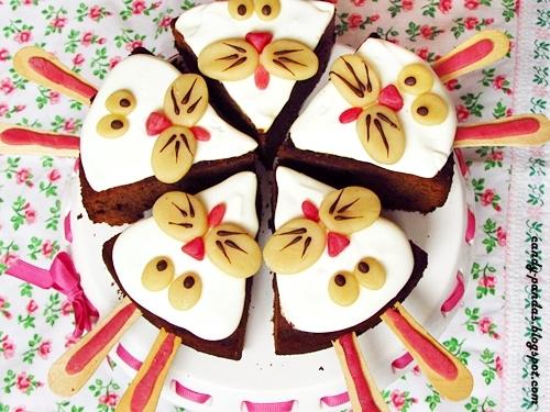 Zajączki z ciasta czekoladowego (bez glutenu)