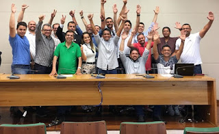 Blogueiros de política do DF fazem solenidade de posse da nova diretoria da ABBP