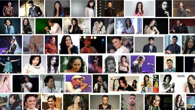 Daftar Penyanyi populer Indonesia