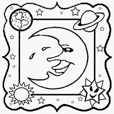 Fantastic solar system playgroup cartoon super moon wallpaper picture coloring for kids to print out