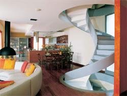 sala con escalera