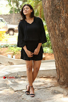 Actress Hebah Patel Stills in Black Mini Dress at Angel Movie Teaser Launch  0036.JPG