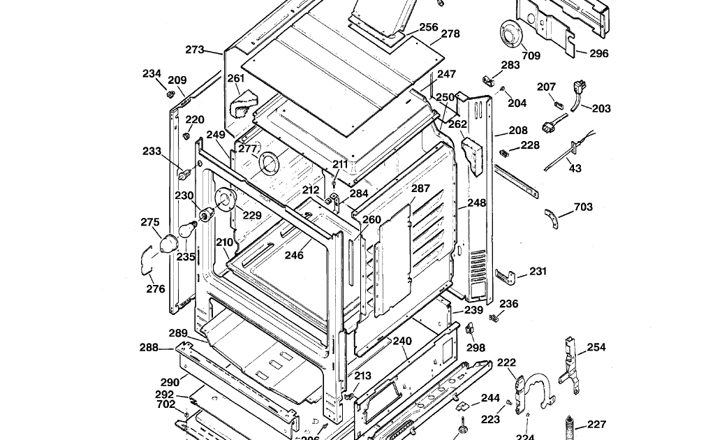 FoggyFacts: Oven sensor (#43) on a GE XL 44 stove