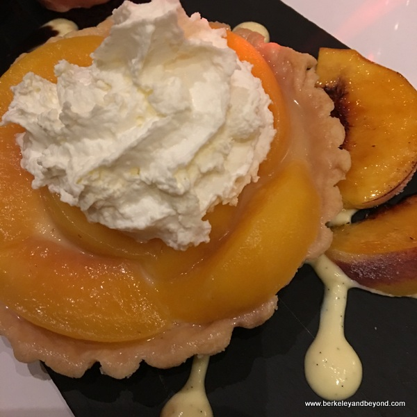 peach tart at Hotel Shattuck Plaza in Berkeley, California