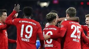 بايرن ميونخ يحقق الانتصار الصعب على فريق هوفنهايم ويتاهل لربع نهائي كأس ألمانيا