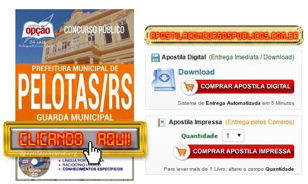 Apostila Concurso Prefeitura de Pelotas 2017 PDF Guarda Municipal