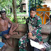 Babinsa Koramil Agats Anjangsana ke Kampung Sagare